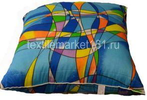 Подушка холлофайбер голубая, 40-60 см